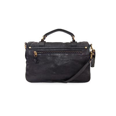 poncho bag black